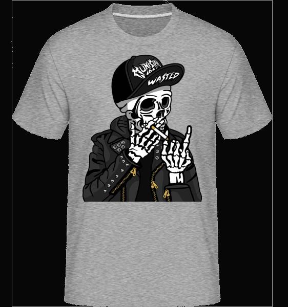 Skull Punk -  Shirtinator Men's T-Shirt - Heather grey - Vorn