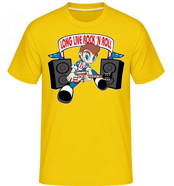 Rock N Roll -  Shirtinator Men's T-Shirt - Golden yellow - Vorn