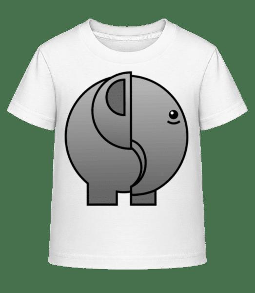 Elephant Comic - Kid's Shirtinator T-Shirt - White - Vorn