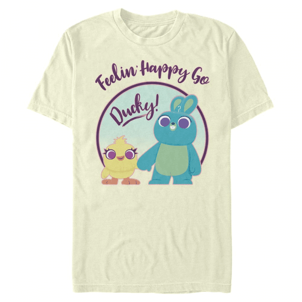 Ducky Bunny Pastel Group Shot - Pixar Toy Story 4 - Men's T-Shirt - Cream - Front