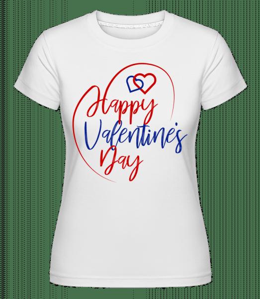 Happy Valentines Day -  Shirtinator Women's T-Shirt - White - Vorn