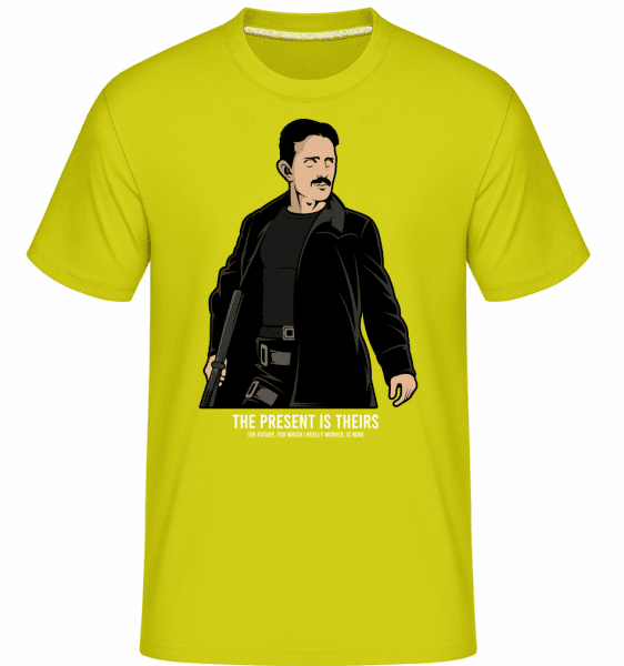 Tesla Matrix -  Shirtinator Men's T-Shirt - Lime - Vorn