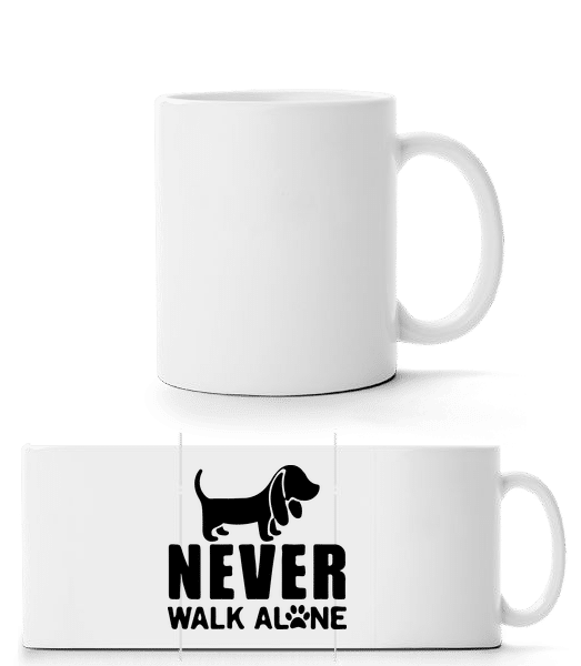 Never Walk Alone Dog - Panorama Mug - White - Vorn
