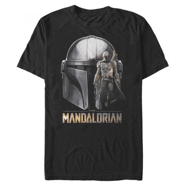 Mando Head - Star Wars Mandalorian - Men's T-Shirt - Black - Front