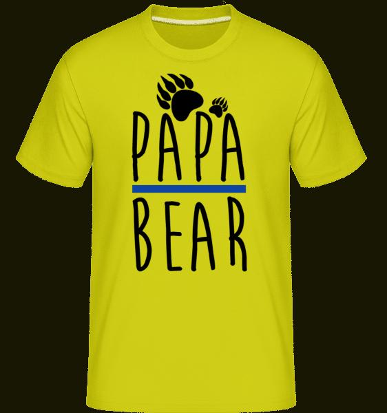 Papa Bear -  Shirtinator Men's T-Shirt - Apple green - Vorn