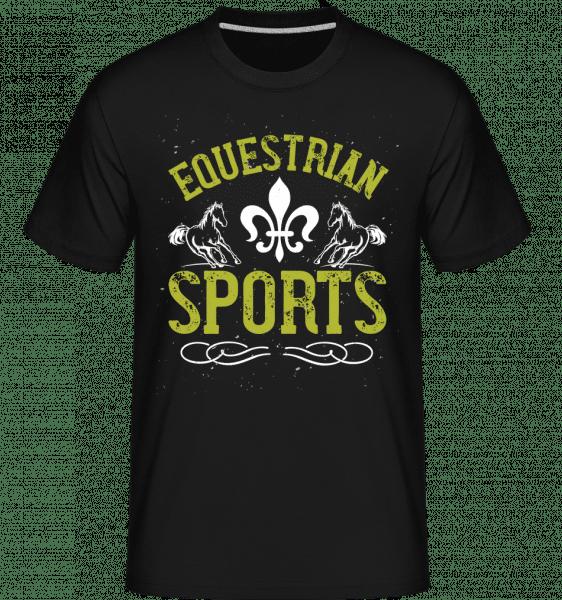 Equestrian Sports -  Shirtinator Men's T-Shirt - Black - Vorn