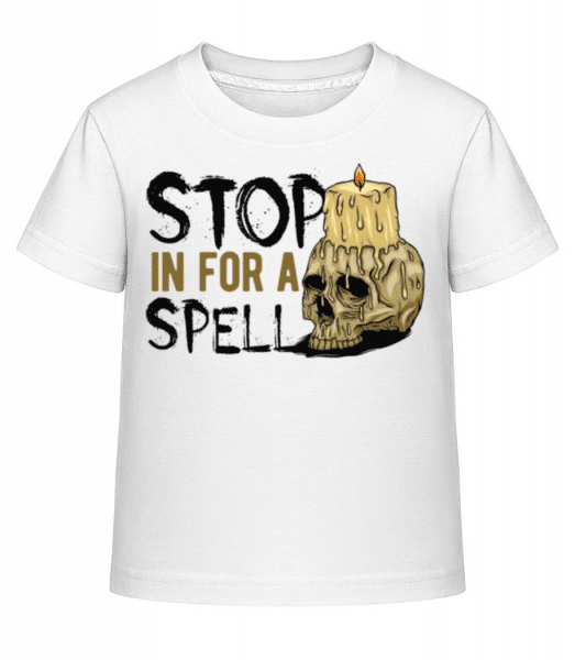 Stop In For A Spell - Kid's Shirtinator T-Shirt - White - Front