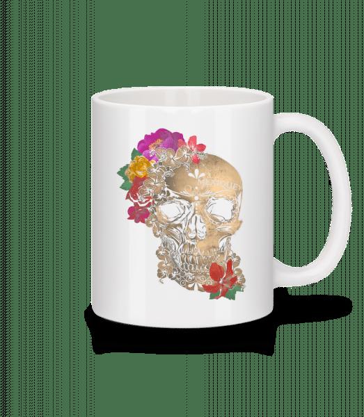 Skull Mexico - Mug - White - Vorn
