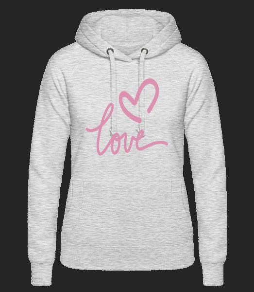 Love - Women's hoodie - Heather grey - Vorn