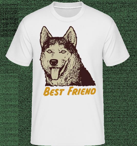 Dog Best Friend -  Shirtinator Men's T-Shirt - White - Vorn