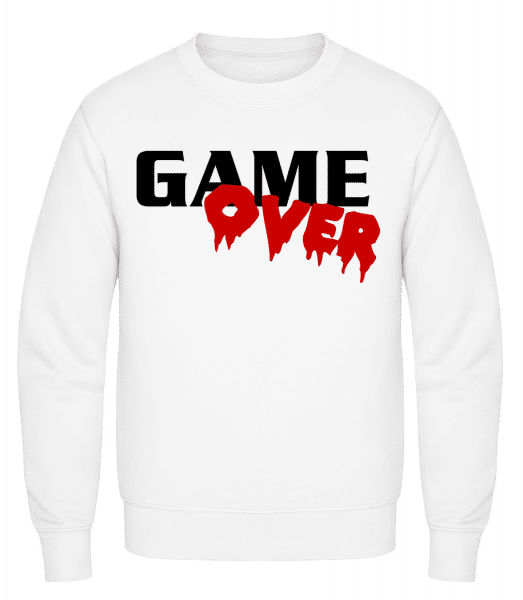 Game Over - Classic Set-In Sweatshirt - White - Vorn