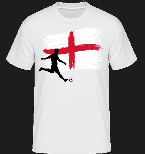 Englische Fahne Fußballer - Shirtinator Männer T-Shirt - Weiß - Vorn