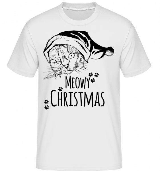 Meowy Christmas -  Shirtinator Men's T-Shirt - White - Vorn