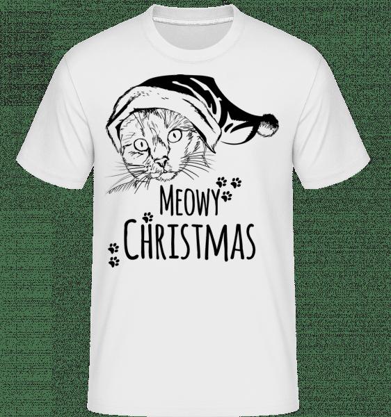 MEOW Christmas -  Shirtinator tričko pre pánov - Biela - Predné
