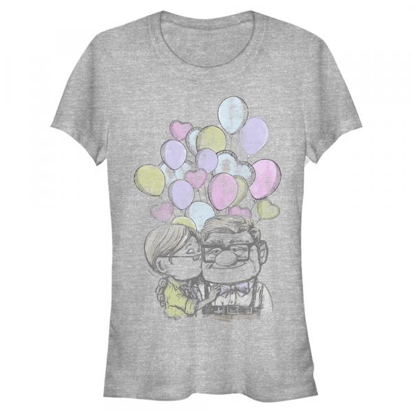 Love Up Carl & Ellie - Pixar - Women's T-Shirt - Heather grey - Front