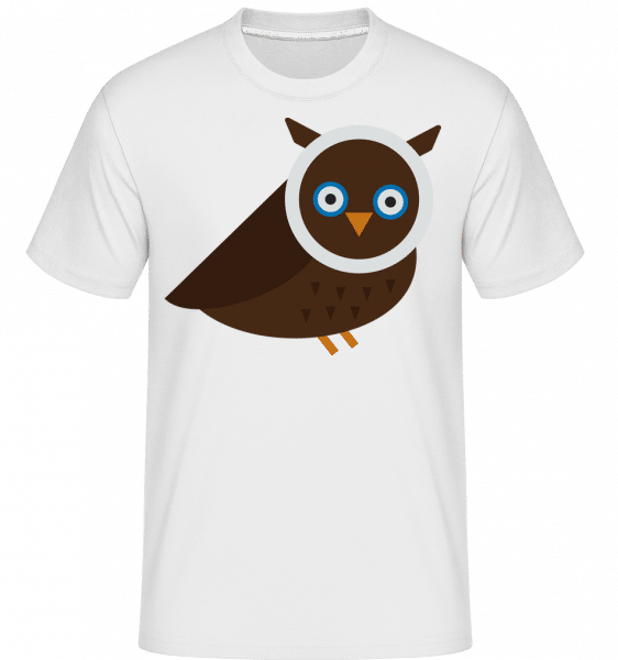 Owl Image -  Shirtinator Men's T-Shirt - White - Vorn