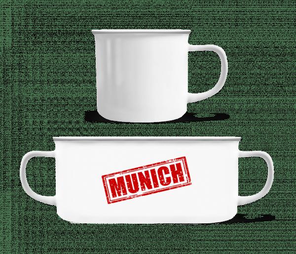 Munich Logo - Enamel-cup - White - Vorn