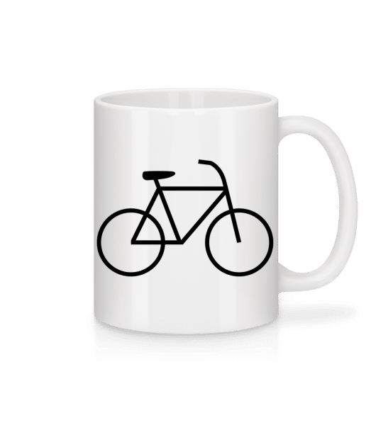 Bicycle - Mug - White - Vorn