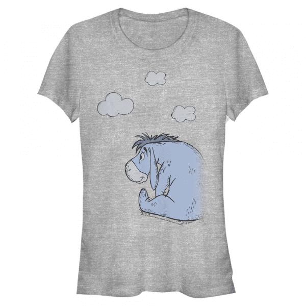 Cloudy Eeyore - Disney Winnie the Pooh - Women's T-Shirt - Heather grey - Front