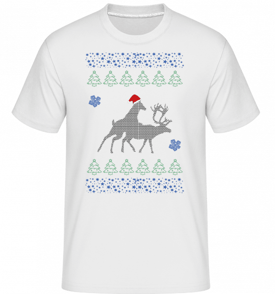 Reindeer Party -  Shirtinator Men's T-Shirt - White - Vorn