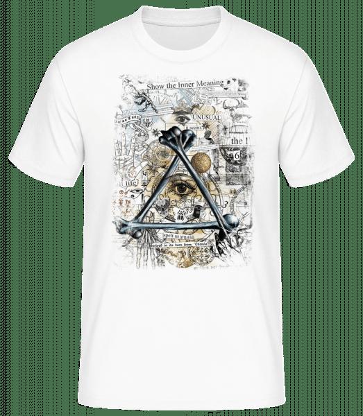 Ukázať vnútorný zmysel - Pánske basic tričko - Biela - Predné
