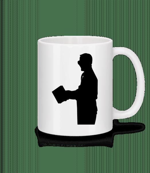 Teacher Silhouette Black - Mug - White - Front