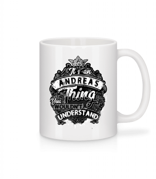It's An Andreas Thing - Mug - White - Vorn