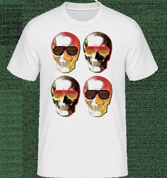 Stylish Skulls -  Shirtinator Men's T-Shirt - White - Vorn