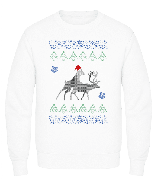 Reindeer Party - Men's Sweatshirt AWDis - White - Vorn