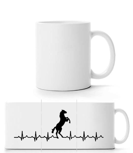 Horse Heartbeat - Panorama Mug - White - Vorn