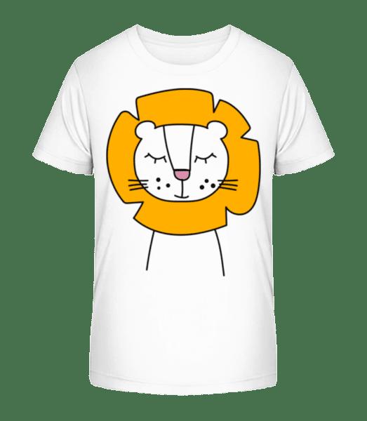 Cute Lion - Detské Premium Bio tričko - Bílá - Napřed