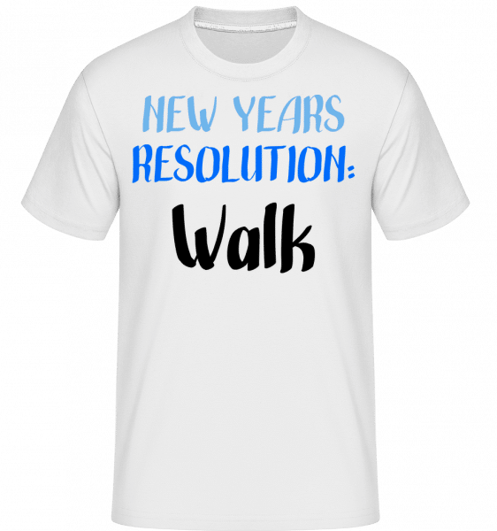 New Years Resolution Walk - Shirtinator Männer T-Shirt - Weiß - Vorn