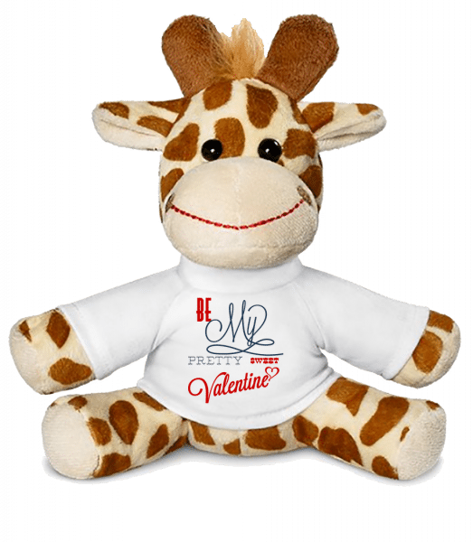 Be My Valentine - Giraffe - White - Vorn
