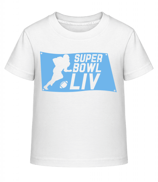 Super Bowl flag - Kid's Shirtinator T-Shirt - White - Vorn