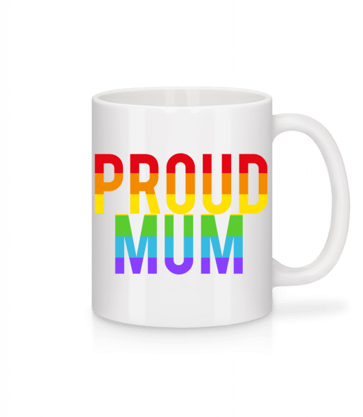 Proud Mum Rainbow - Mug - White - Vorn