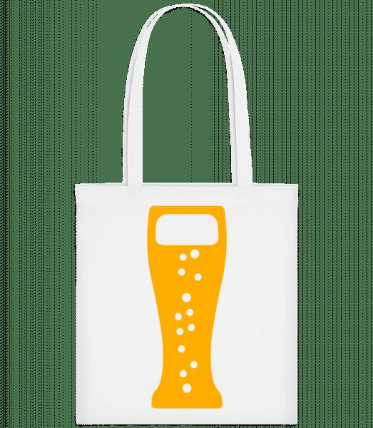 Bierglas - Stoffbeutel - Weiß - Vorn