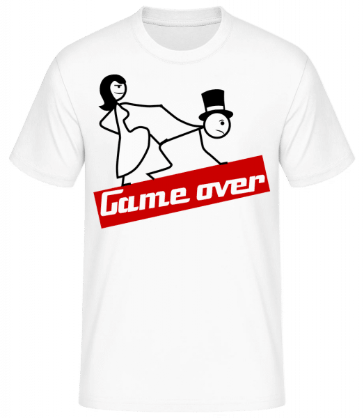 Game Over - Männer Basic T-Shirt - Weiß - Vorn