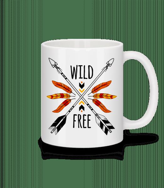 Wild And Free Logo - Mug - White - Vorn