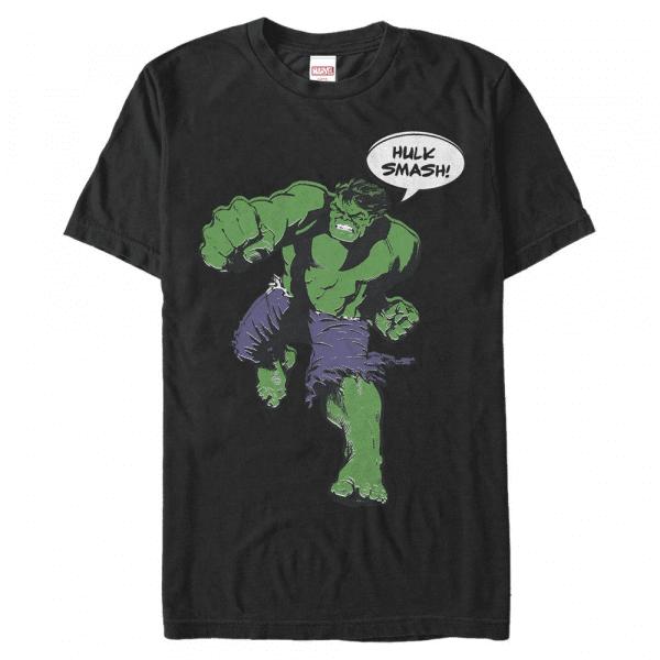 Vintage Smash Hulk - Marvel Avengers - Men's T-Shirt - Black - Front