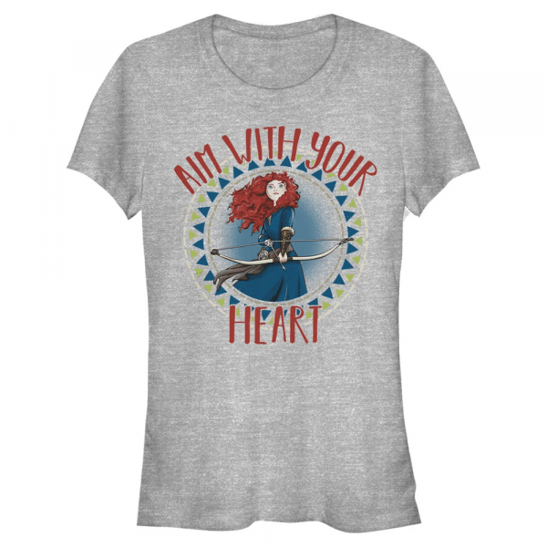 Aim with Heart Merida - Disney Brave - Women's T-Shirt - Heather grey - Front