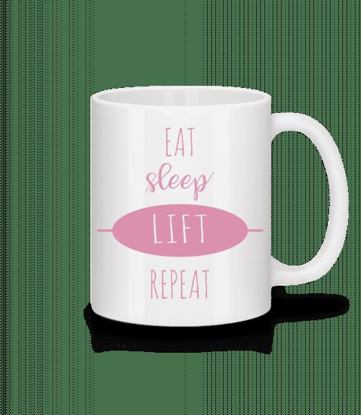 Eat Sleep Lift Repeat - Mug - White - Vorn