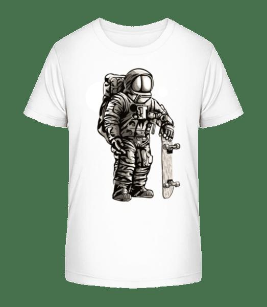 Astronaut Skater - Kinder Premium Bio T-Shirt - Weiß - Vorn