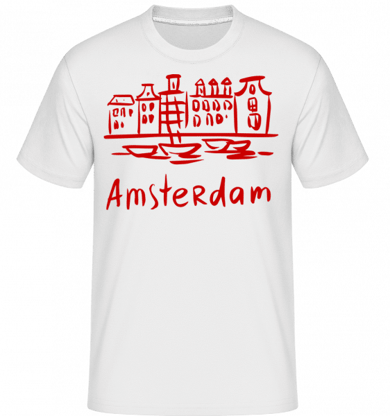 Amsterdam Chinese Style -  Shirtinator Men's T-Shirt - White - Vorn