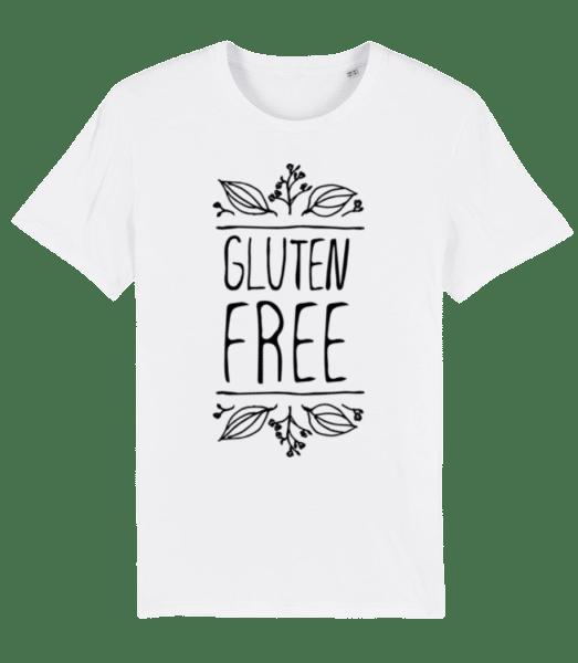 Gluten Free - Men's Premium Organic T-Shirt Stanley Stella - White - Front