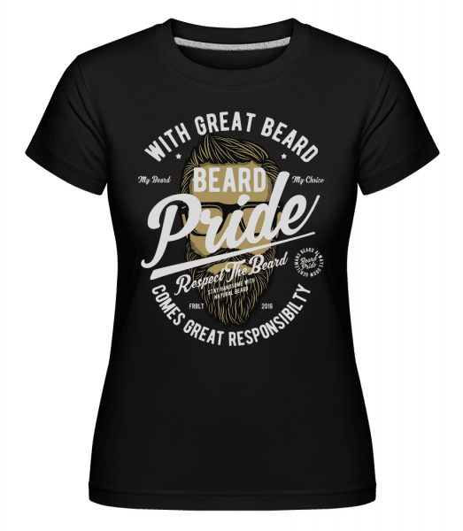Beard Pride -  Shirtinator Women's T-Shirt - Black - Vorn