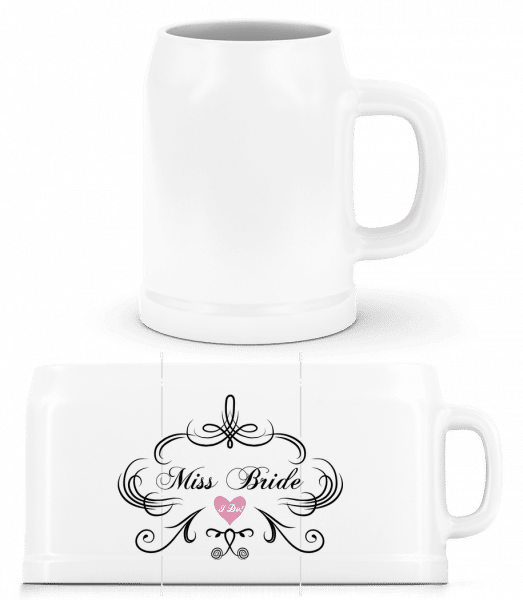 Miss Bride - Beer Mug - White - Vorn