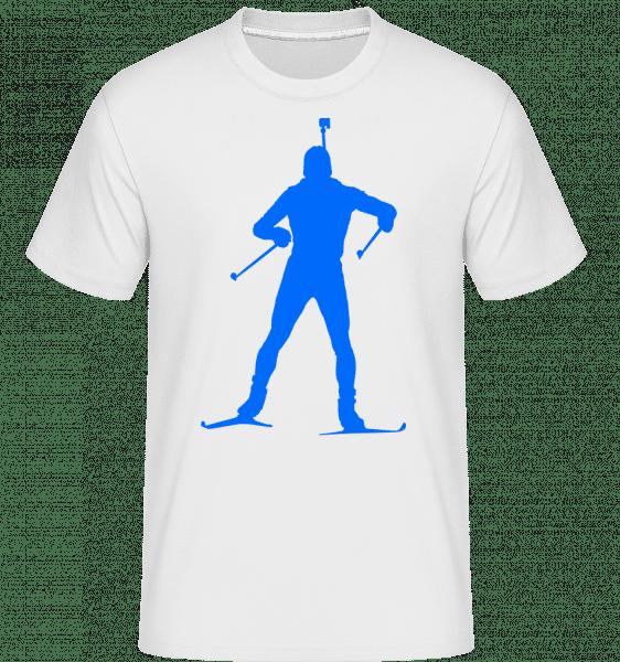 Biathlon Blue -  T-Shirt Shirtinator homme - Blanc - Vorn