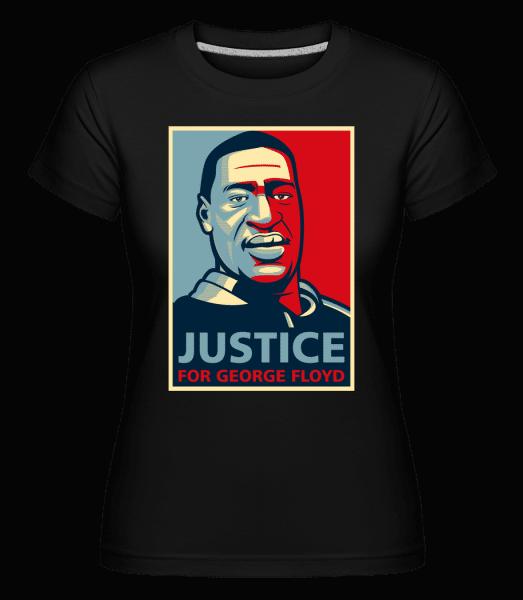 Justice For George Floyd -  Shirtinator Women's T-Shirt - Black - Vorn