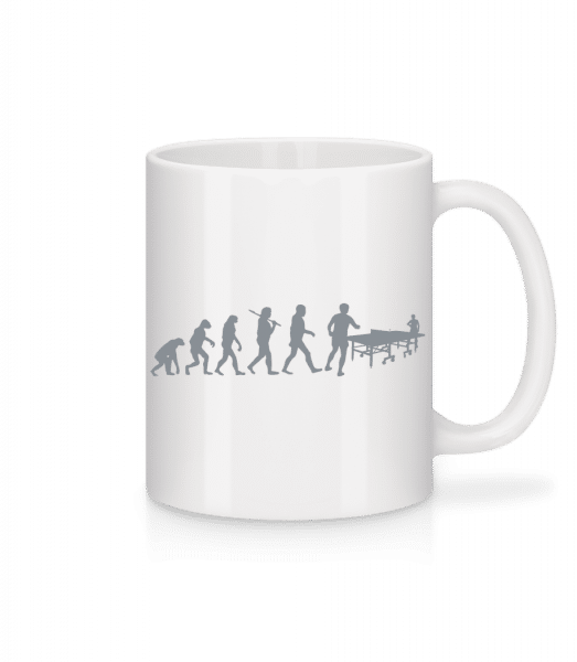 Evolution Of Table Tennis - Mug - White - Vorn