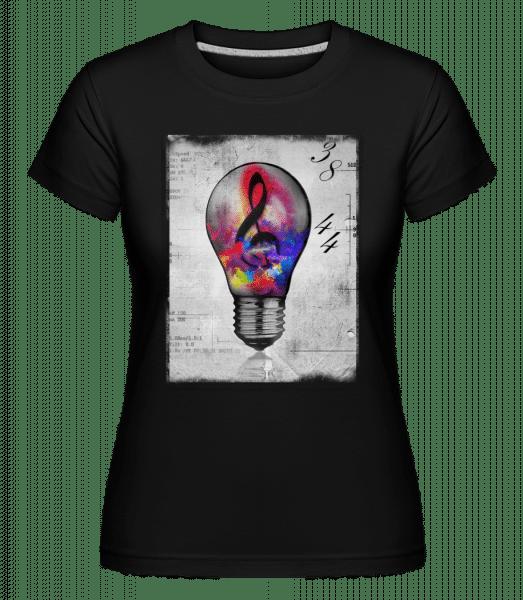 Bunte Glühbirne - Shirtinator Frauen T-Shirt - Schwarz - Vorn
